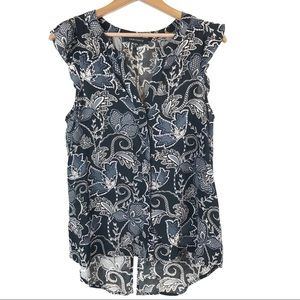 Sanctuary Black Floral Sleeveless Blouse S